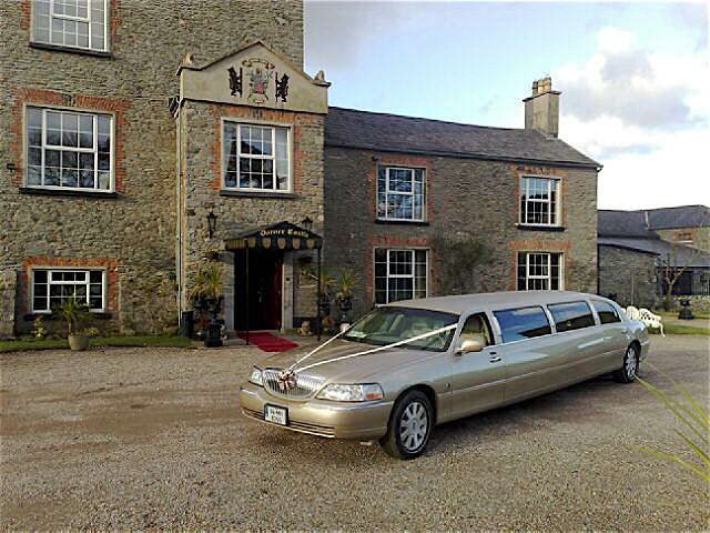 Champagne Gold Wedding Limousine Louth