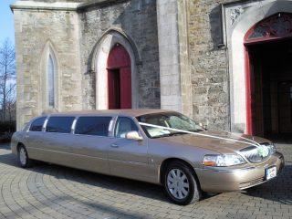 Champagne Gold Wedding Limousine Balbriggan Dublin
