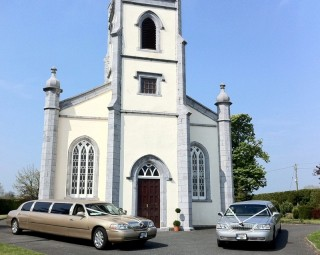 Gold Silver Wedding Limousines Hire Johnstown Bridge Kildare